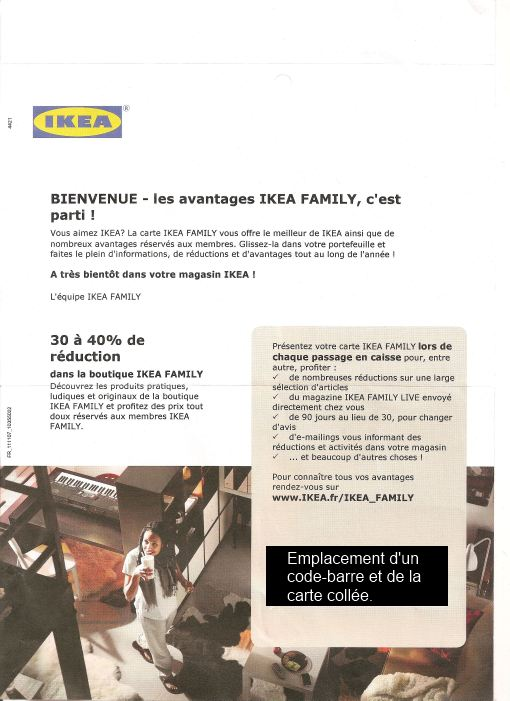 chez s bphilat lie une publicit ikea comme document philat lique. Black Bedroom Furniture Sets. Home Design Ideas