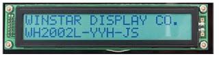 Display 20x02 - 2 linhas com 20 caracteres cada