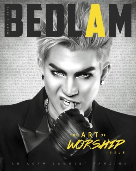 Adam Lambert Bedlam Fanzine Cover
