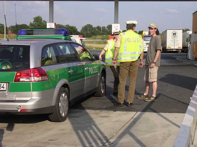 me getting stopped by the friendly police in Germany