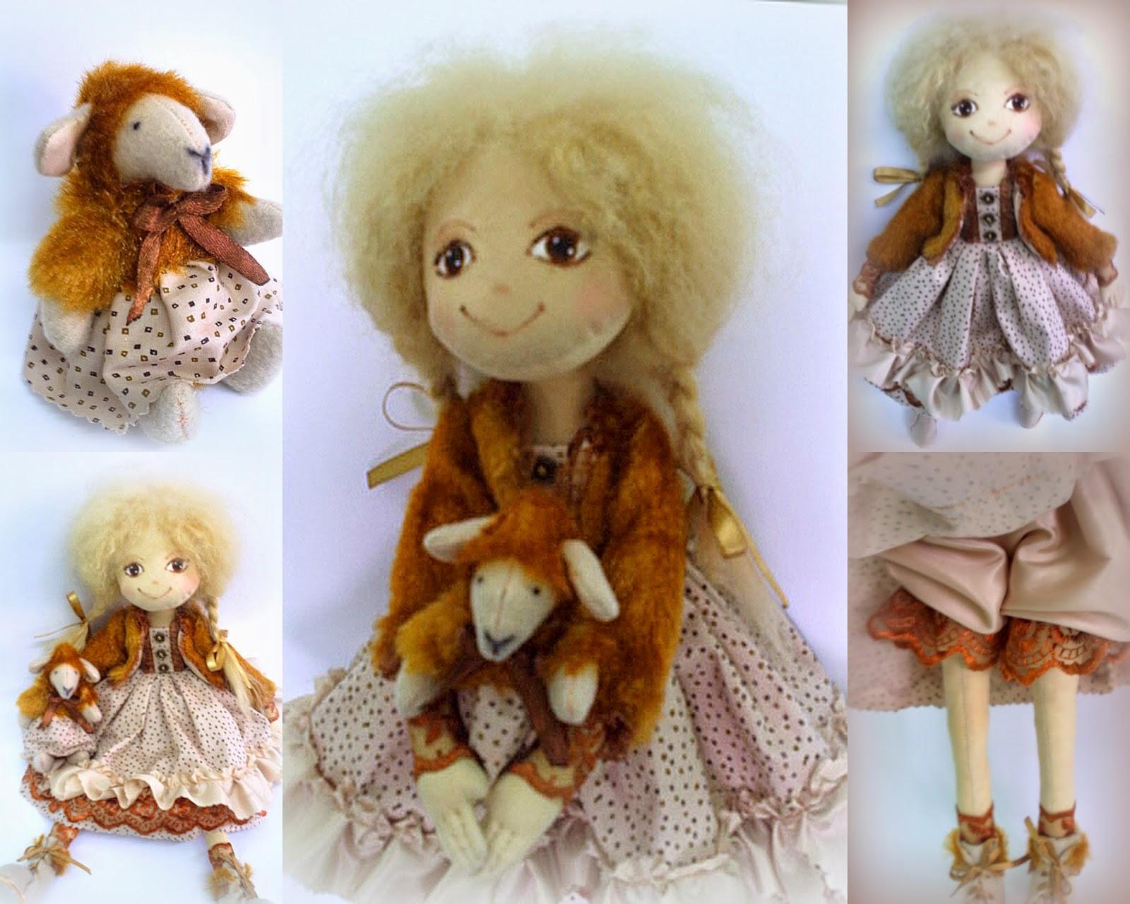 Текстильная кукла, мед, корица, карамель.