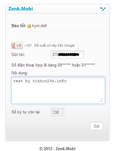 free sms zenk