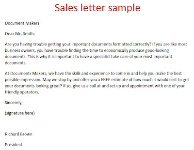 Video Sales Letter. Sales Letter. Sales Letter Sample Real Life ...