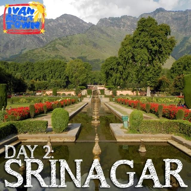 Nishat Bagh Mughal garden in Srinagar, Kashmir, India