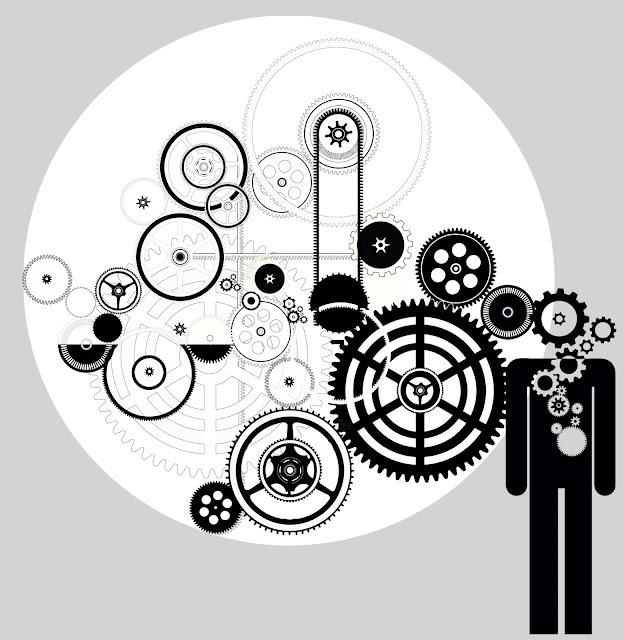 tiempo, hombre ,maquina, isotipo, pictograma, reloj