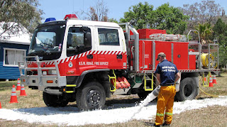 Kylie Griffin firefighting