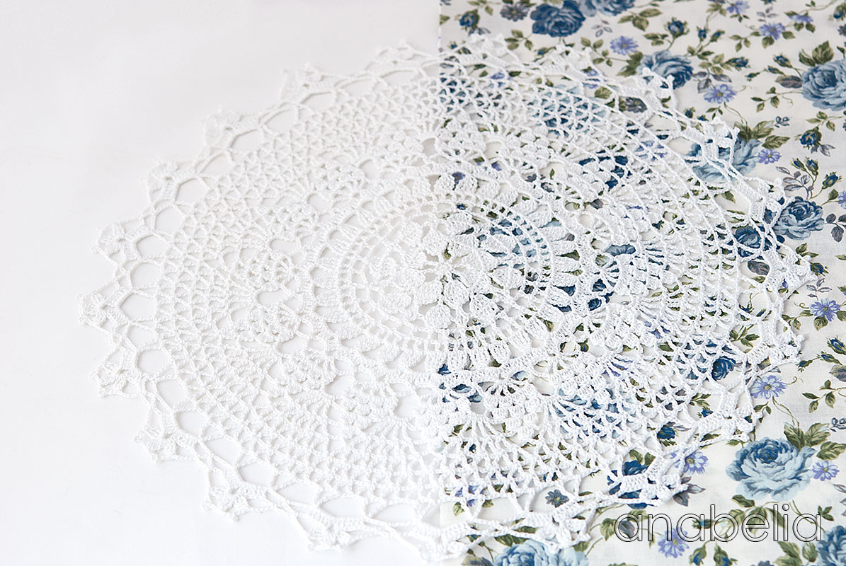 Crochet winter doily Anchor pattern made by Anabelia