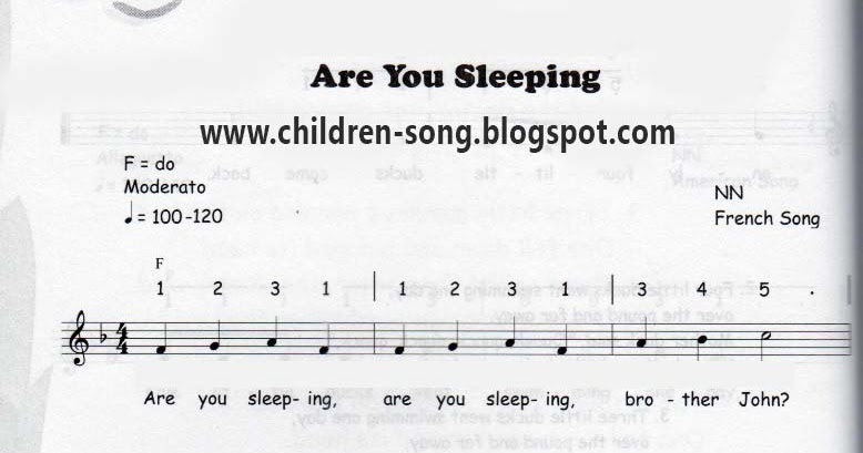 Are You Sleeping Song With Notes And Chords