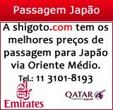 Passagem para Japão via Oriente