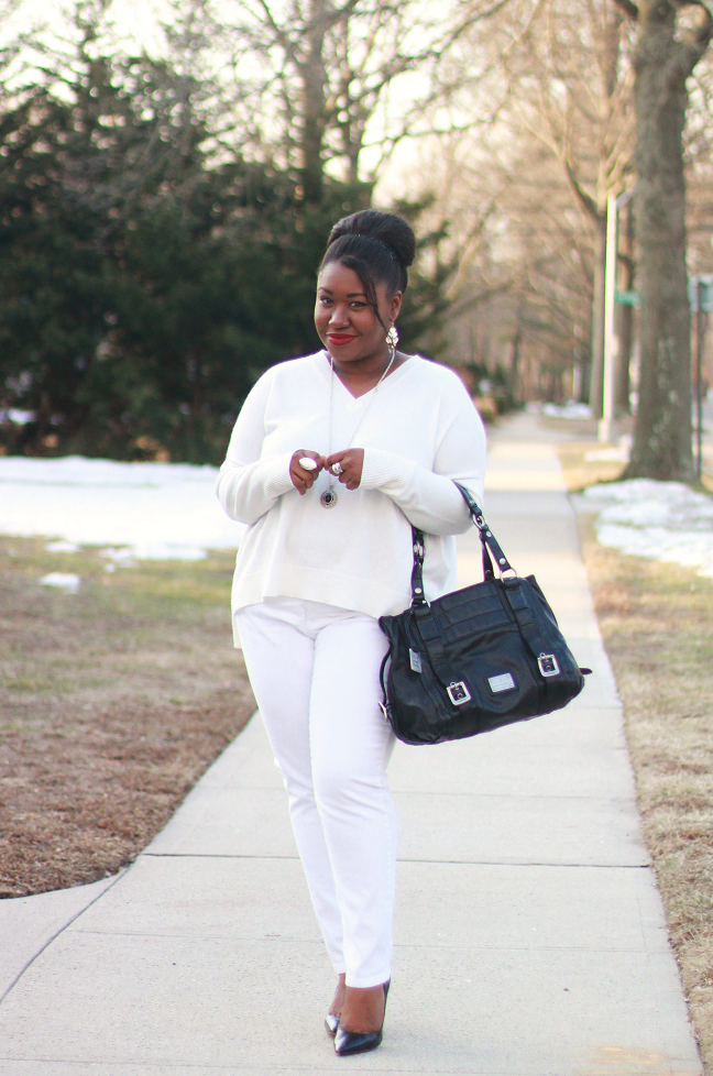 plus size white jeans - Jean Yu Beauty