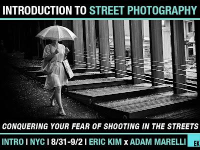 Locandina di workshop sulla street photography