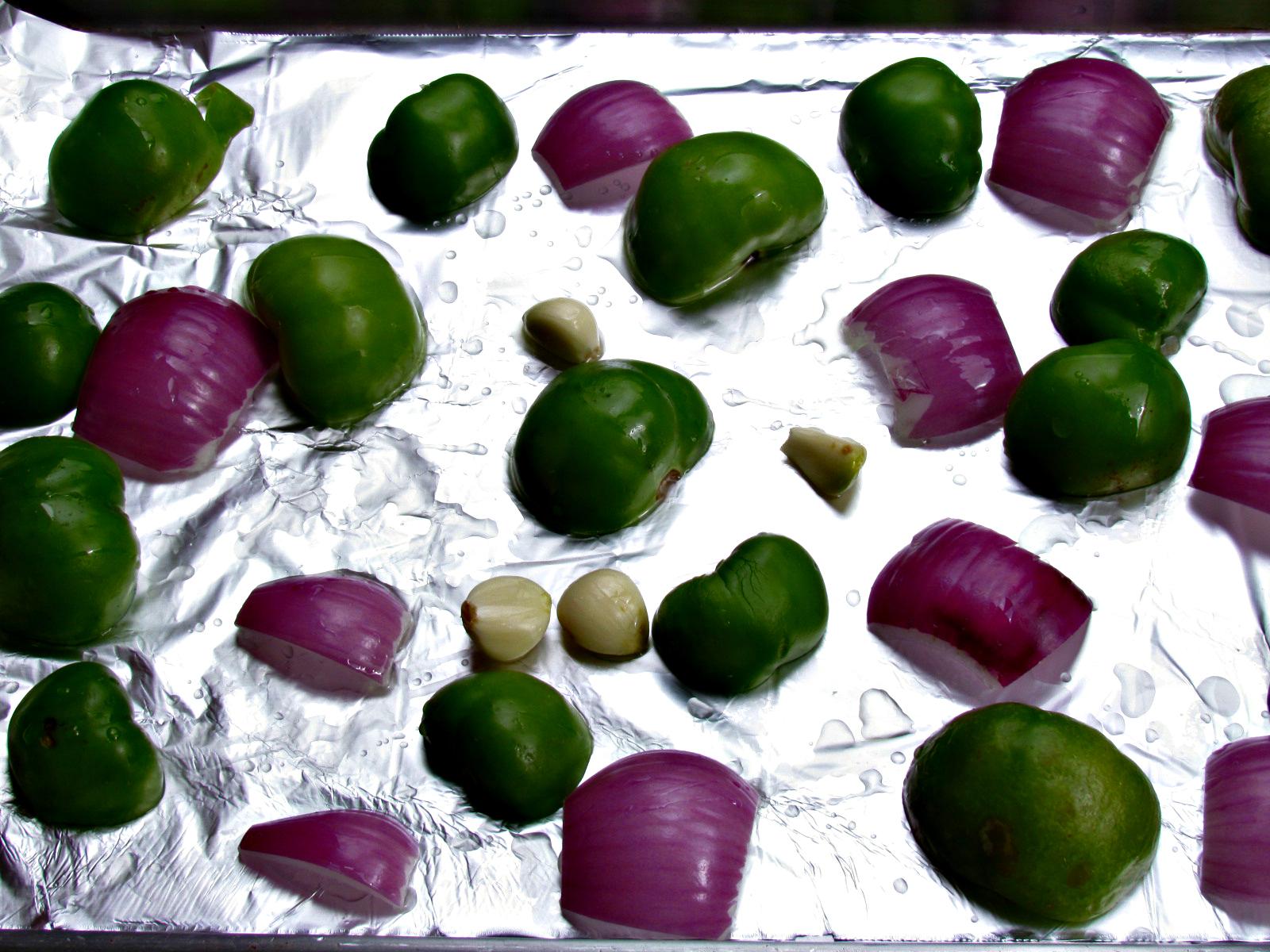 Roasted Tomatillo Avocado Salsa Verde