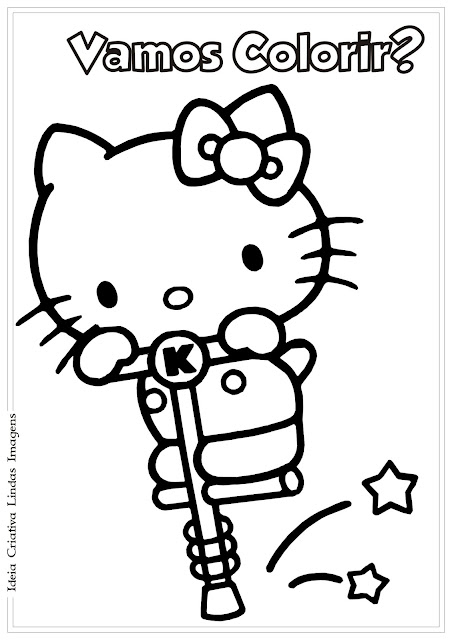 Hello Kitty desenho para colorir