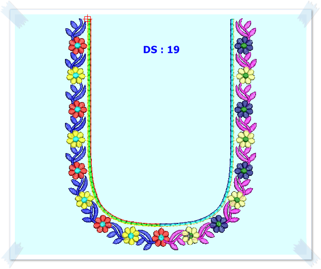 Bhavani Embroidery Paid Neck Designs