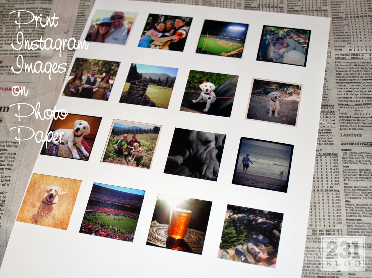 print instagram magnets at home