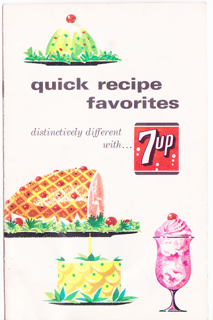 Vintage 7up Recipe Booklet from 1965 on The Cedar Chest blog