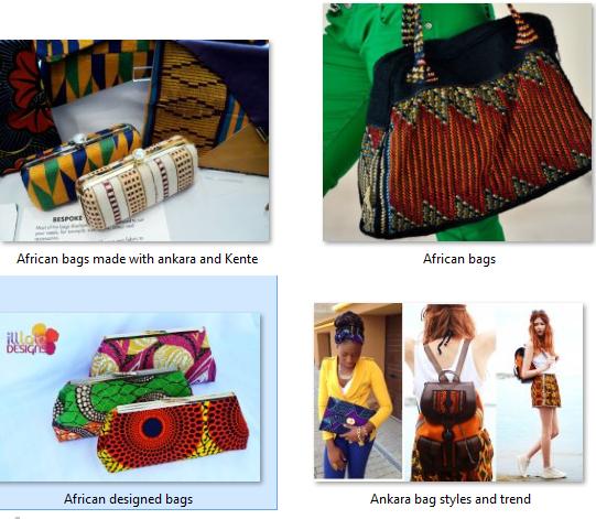 ankara designed bags