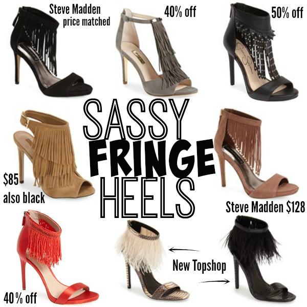 Sassy fringe heels