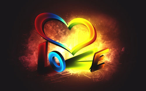 Hd Wallpaper Love 3d