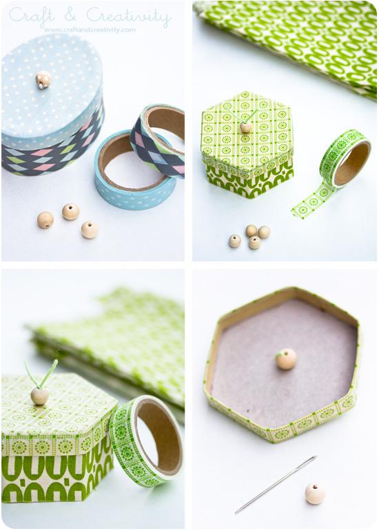 Washitapera m s ideas para decorar cajas con washi tape - Ideas para decorar con washi tape ...
