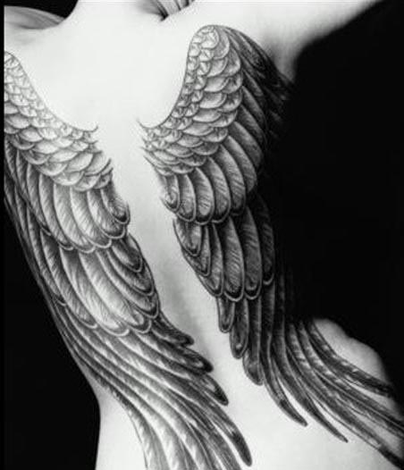 Pornstar angel wings tatoo