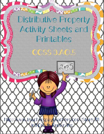 http://www.teacherspayteachers.com/Product/Distributive-Property-of-Multiplication-Printables-CCSS-3OA5-966240