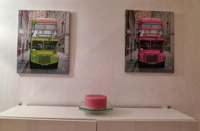 Deko in pink/grün