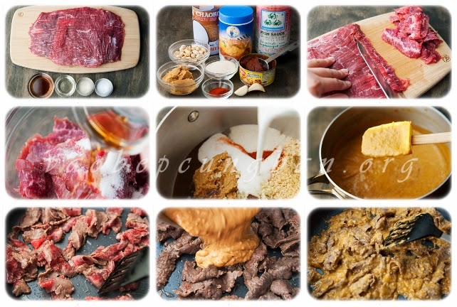 Lạ với Món thịt bò xào sốt đậu phộng vô cùng hấp dẫn