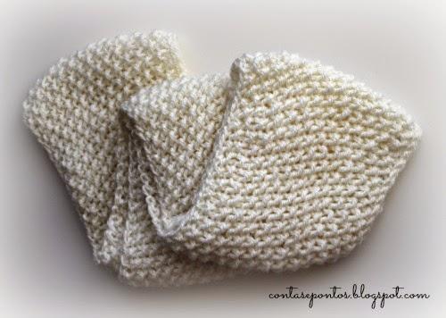 gola em tricot - ponto de arroz