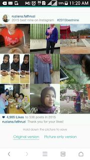 instagram, unizara.com, #2015bestnine, cara membuat best nine 2015