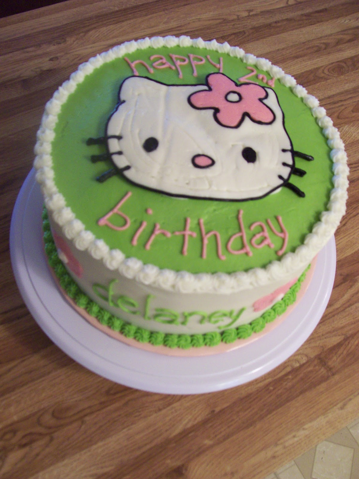 the cake box girls Hello Kitty birthday cake