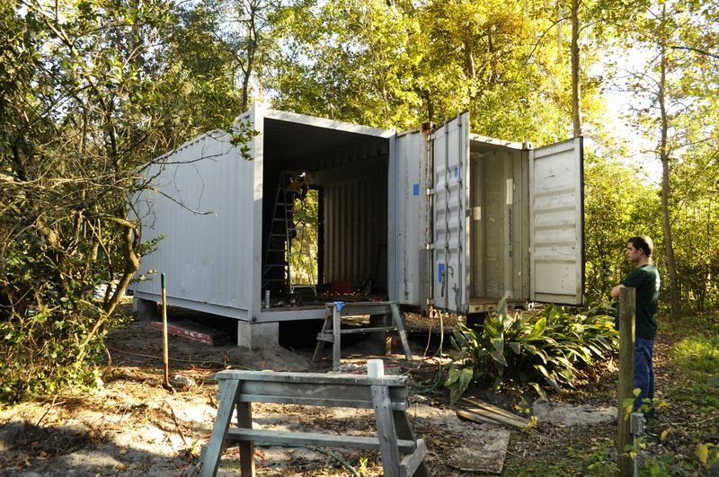 Shipping container homes mw bender container guest house gainesville fl - Container homes florida ...