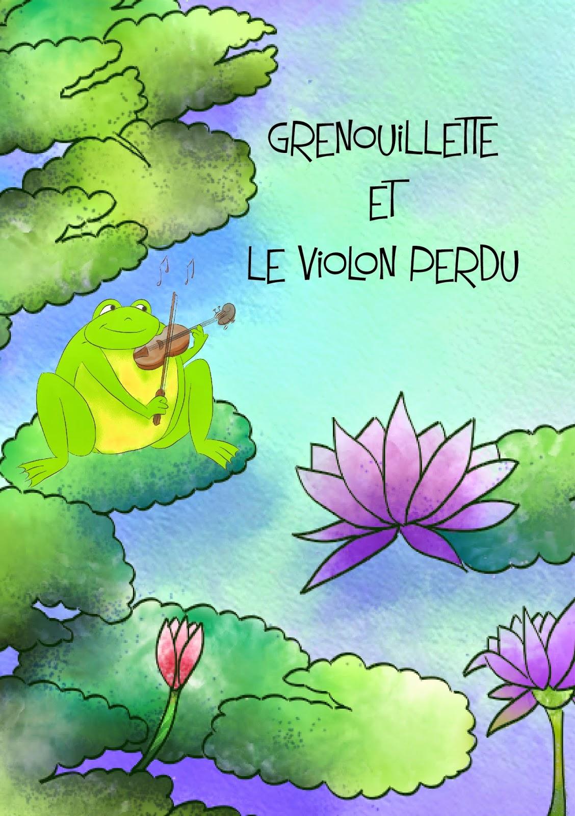 Proposition de couverture pour Grenouillette et le violon perdu, un conte de fée très nature