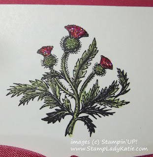 Card made with Stampin'UP!'s stamp set: Nature's Pace