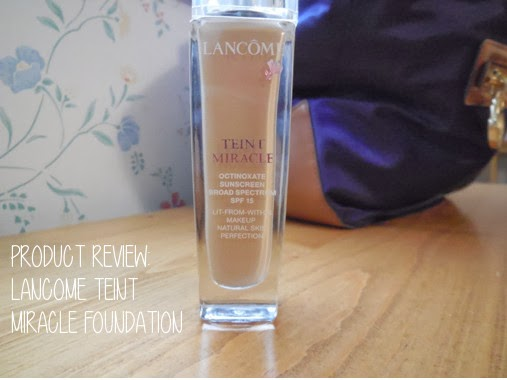 Product Review: Lancome 'Teint Miracle' Foundation