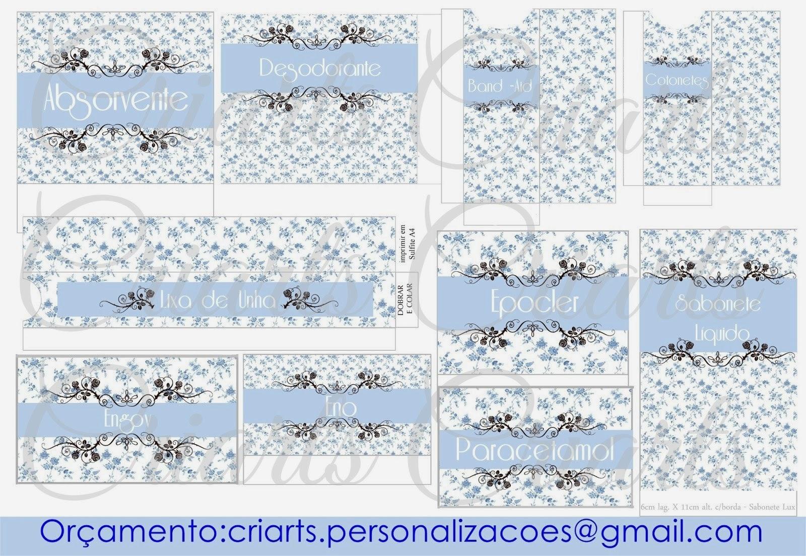 Kit Banheiro Tifany : Criarts personaliza?es kit banheiro azul