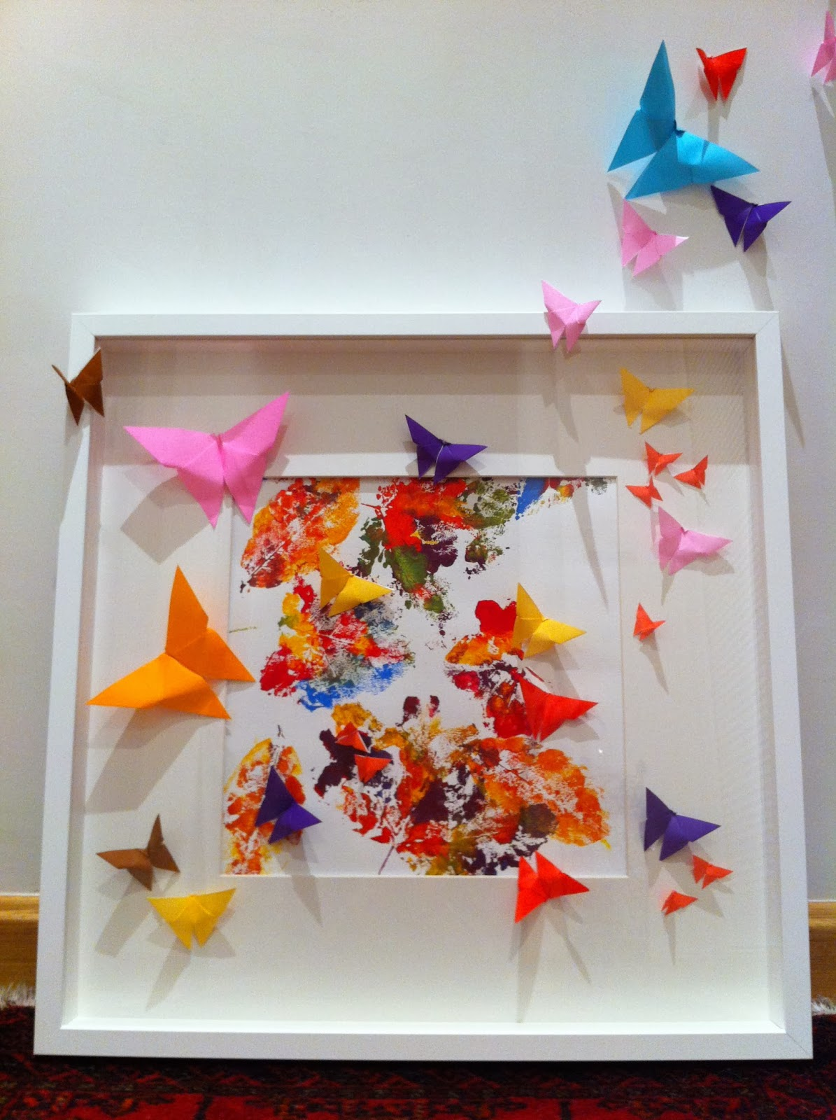 Mariposas de Origami: cuadros de hojas y mariposas Origami