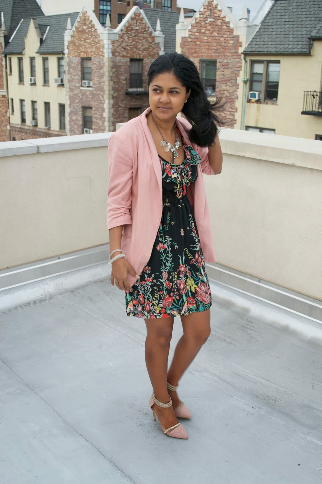 justfab shoes pink blazer fall trends