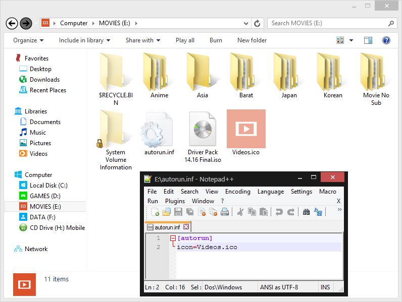 Cara Mengubah Icon Drive Pada Windows