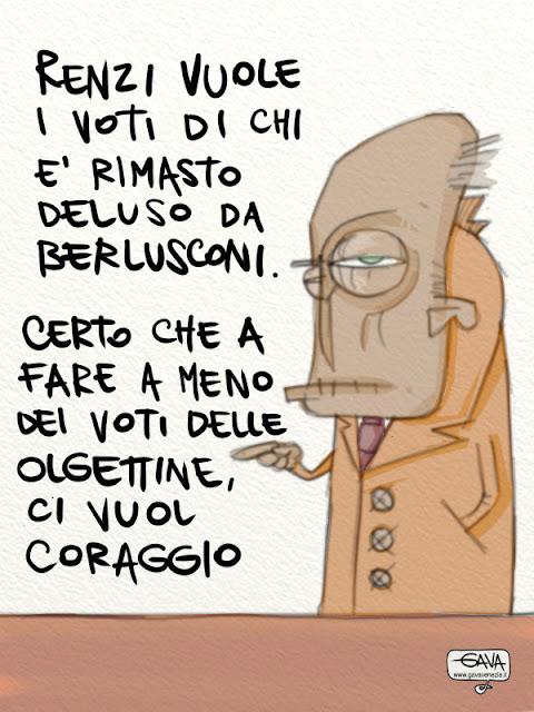Gava Satira Vignette primarie PD Olgettine