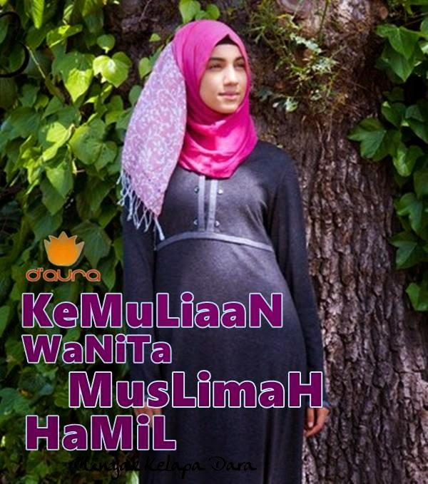 Kemuliaan Wanita Muslimah Hamil Minyak Kelapa Dara