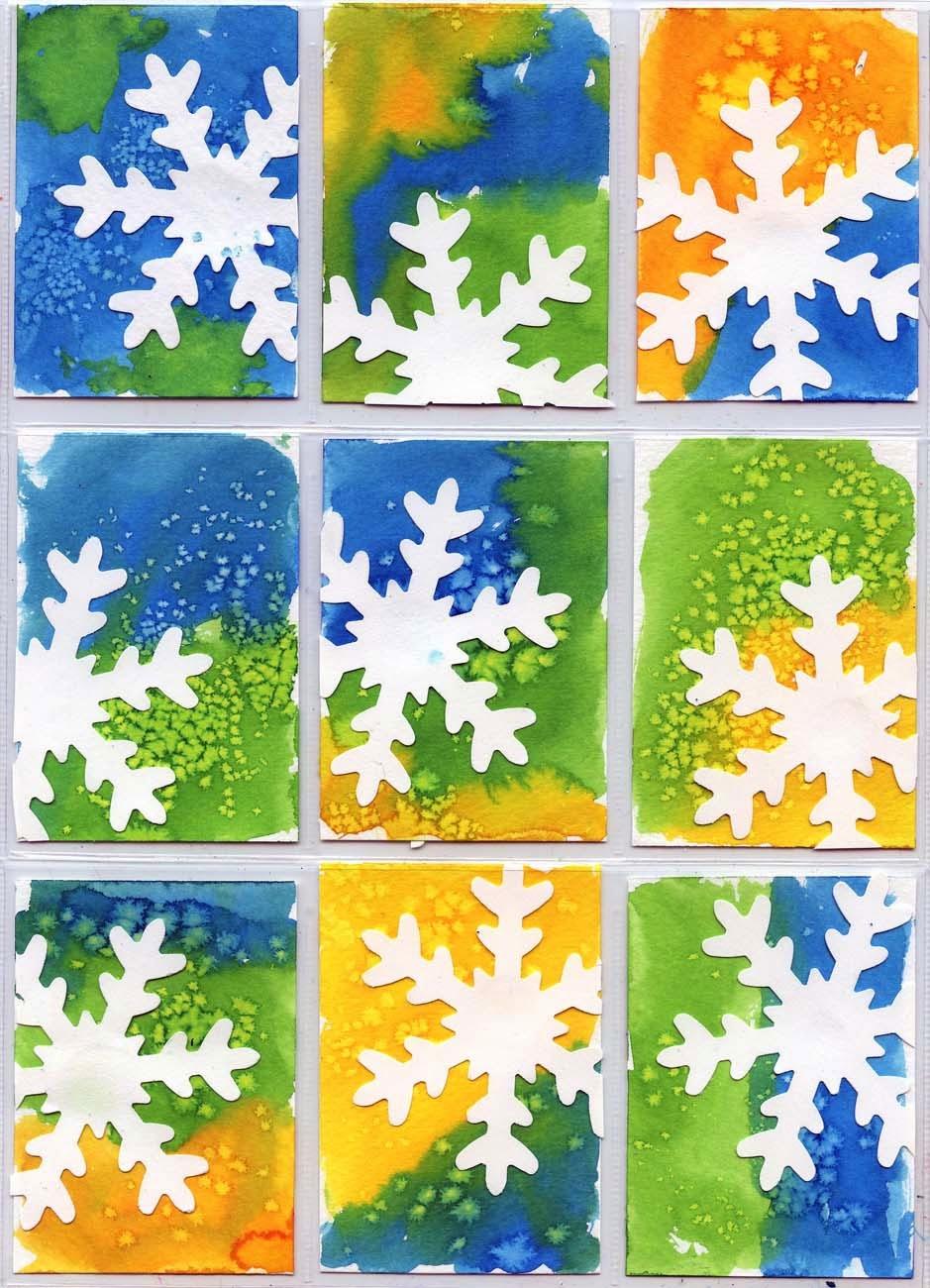 Поделки из бумаги зимние для детского сада