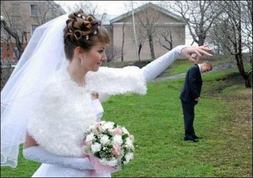 صور مضحكة - عروسة وعريس