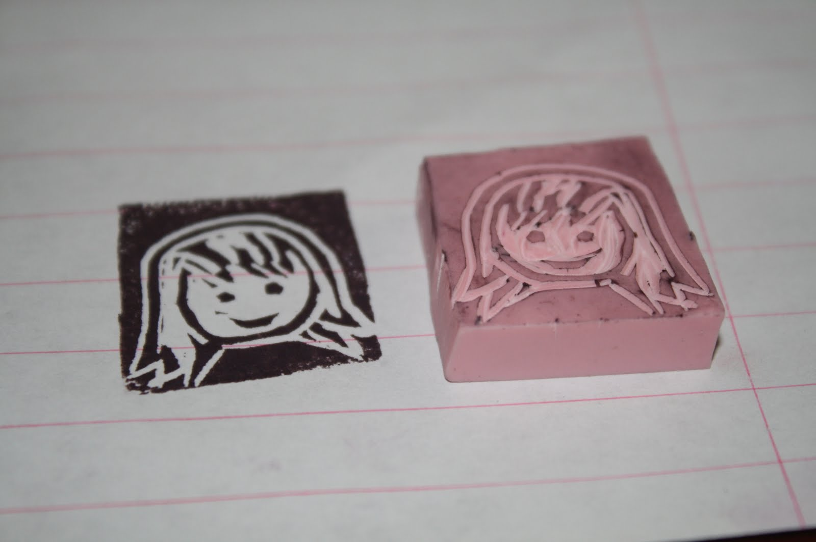 An apple and a tree tutorial hand carved rubber stamps