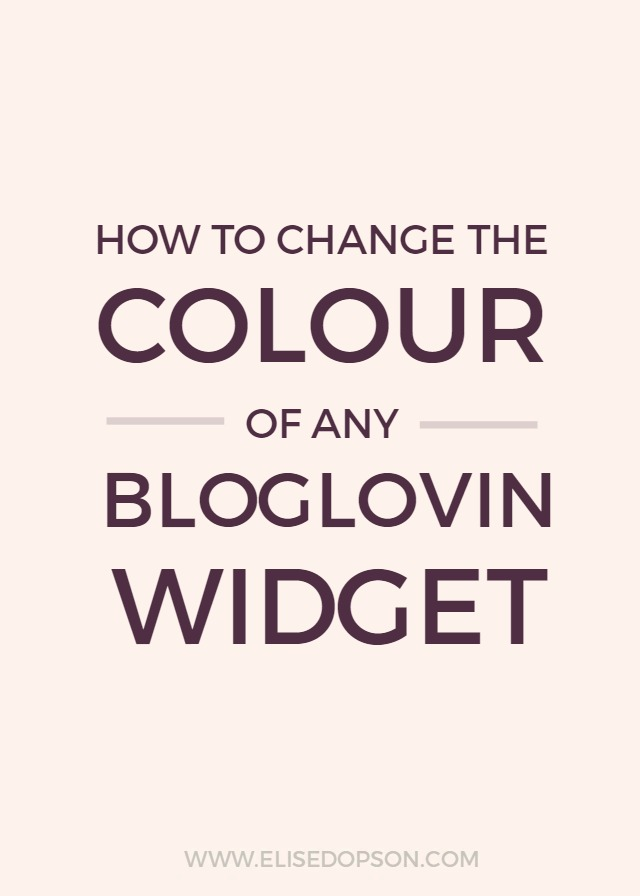 how to change color of bloglovin widget button