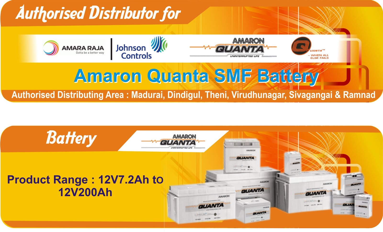 WE ARE AUTHORIZED DEALERS IN AMARON INVERTERS & QUANTA BATTERIES IN NIGERIA