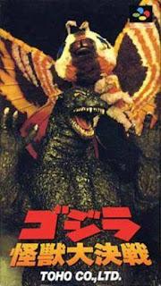 Godzilla Kaijuu Daikessen cover art super famicom