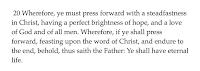 Mission Scripture 2 Nephi 31:20
