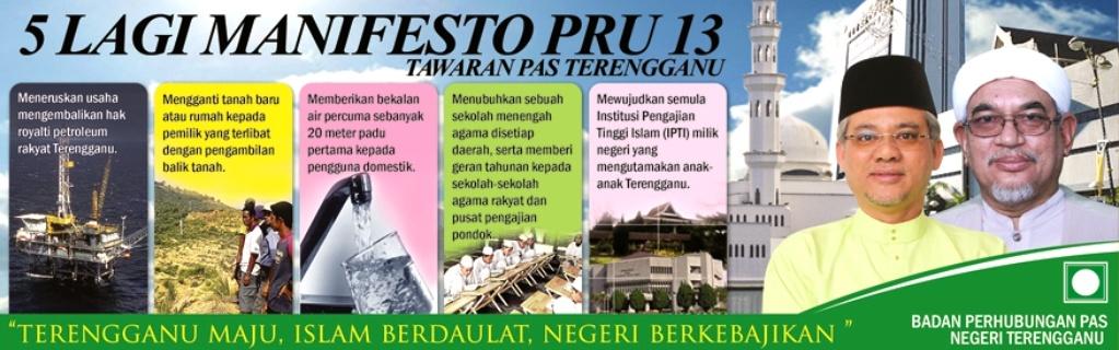 Peringatan kepada rakyat Terengganu. Jangan percaya dengan sebarang