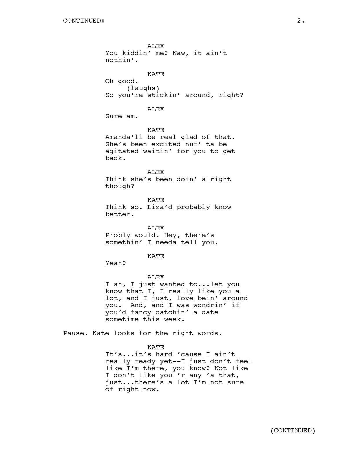 josephfaultersack  tv pilot script sample